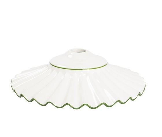 piatto in ceramica plissettato verde 38cm