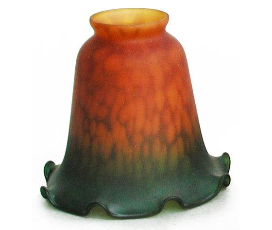 paralume in vetro verde/ambra 13cm