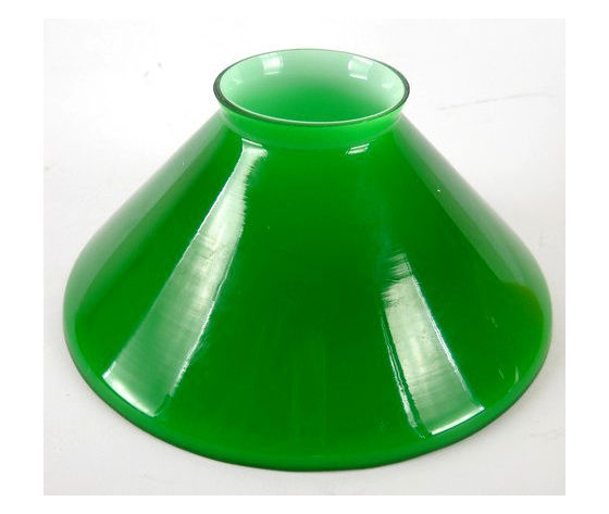 paralume cono verde 15cm