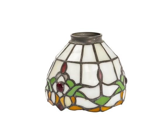 paralume in vetro tiffany con gemme 13cm