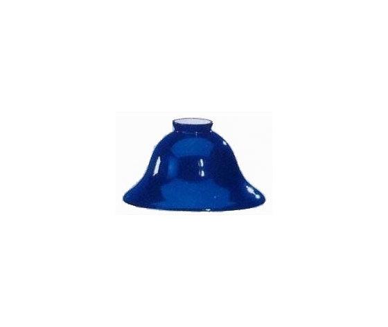 paralume vetro blu 18cm