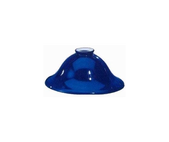 paralume vetro blu 25cm