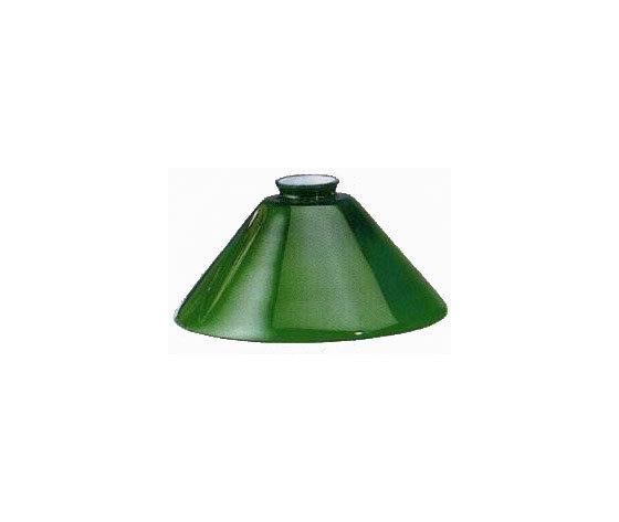 paralume vetro cono verde 25cm