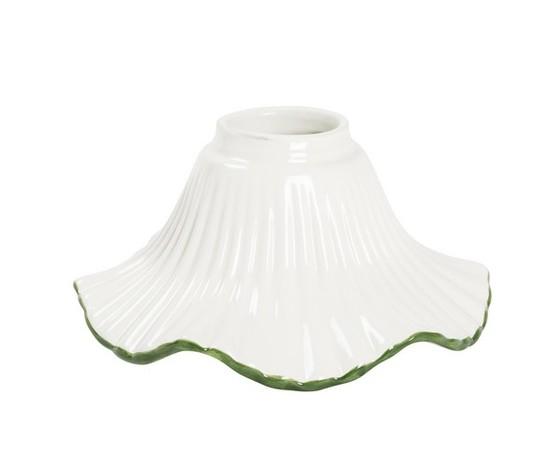 paralume in ceramica verde 15cm