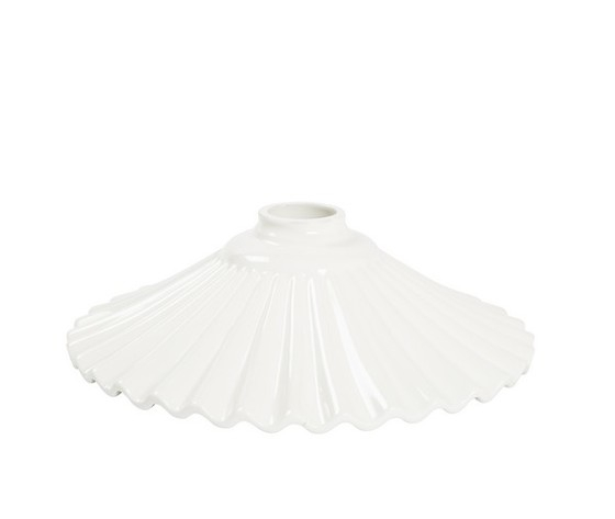 piatto in ceramica plissettato bianco 29cm