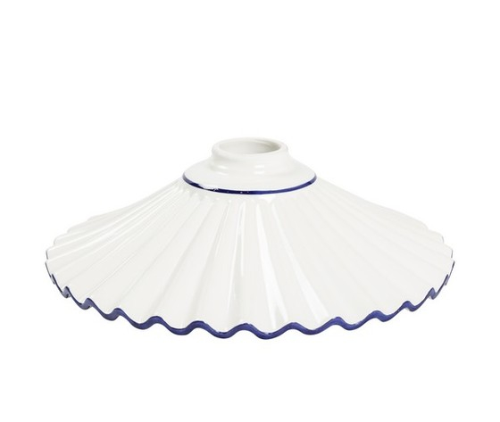 piatto in ceramica plissettato blu 29cm