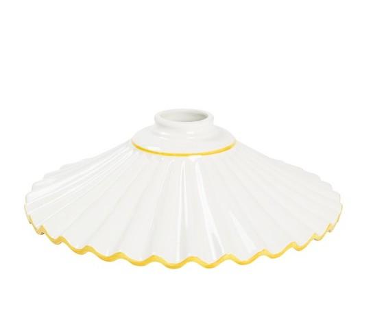 piatto in ceramica plissettato giallo 29cm