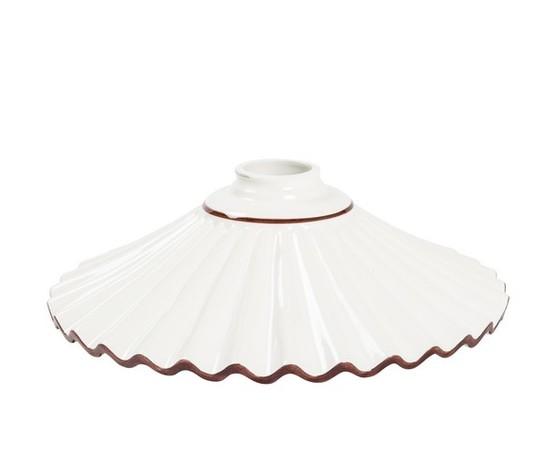 piatto in ceramica plissettato marrone 29cm
