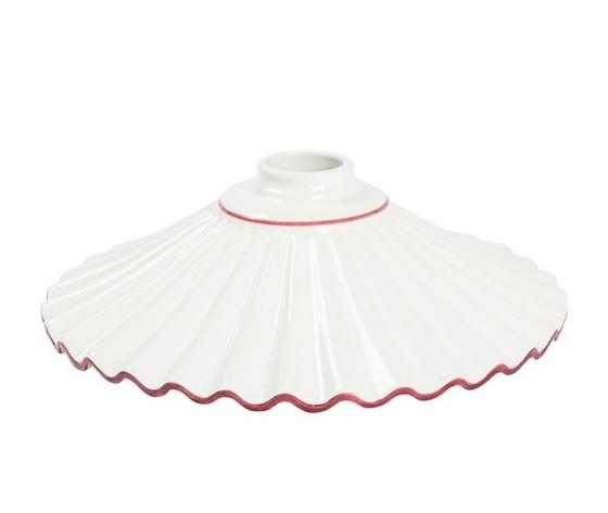 piatto in ceramica plissettato rosso 29cm