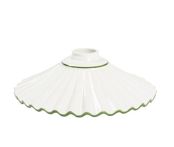 piatto in ceramica plissettato verde 29cm