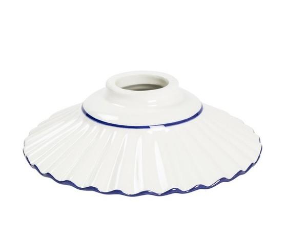 piatto in ceramica plissettato blu 20cm