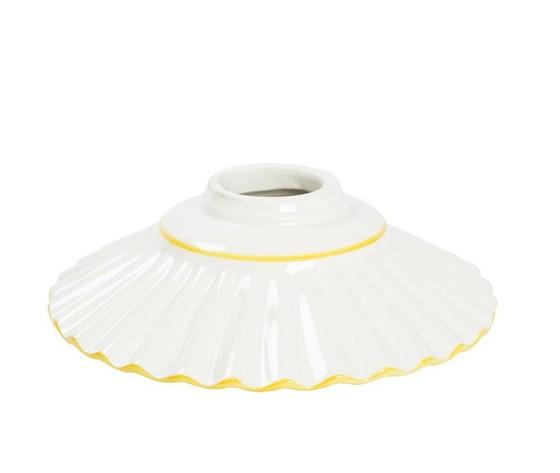 piatto in ceramica plissettato giallo 20cm