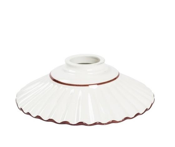 piatto in ceramica plissettato marrone 20cm