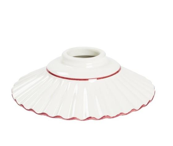 piatto in ceramica plissettato rosso 20cm
