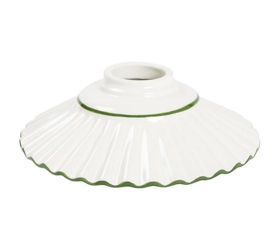 piatto in ceramica plissettato verde 20cm