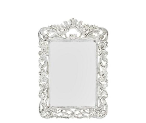 specchio lavorato bianco 130cm