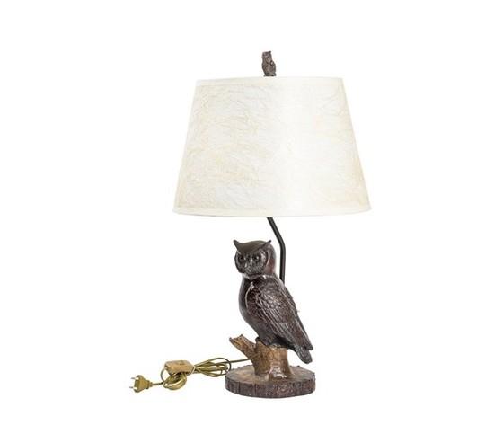 lampada da tavolo con gufo