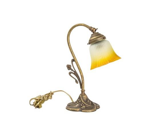 lampada da tavolo in ottone