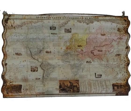 Pannello decorativo mappamondo