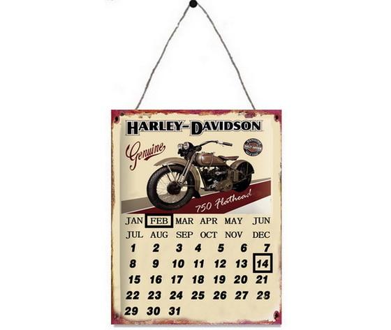 Pannello calendario in metallo