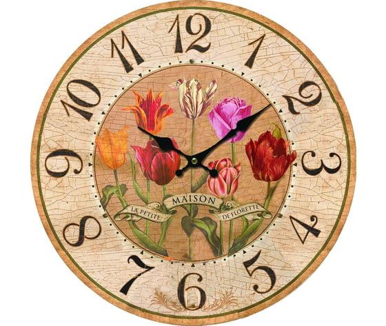 orologio tulipani 34cm
