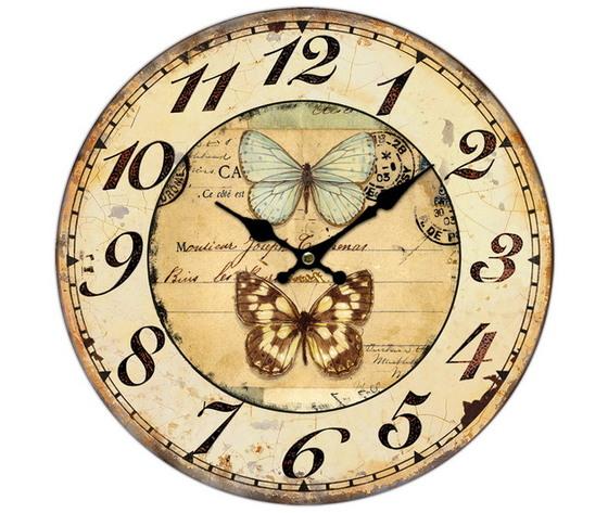orologio con farfalla 34cm