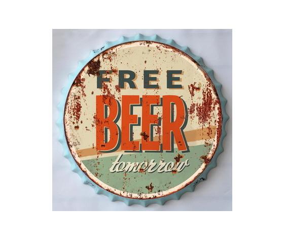 Targa in metallo free beer