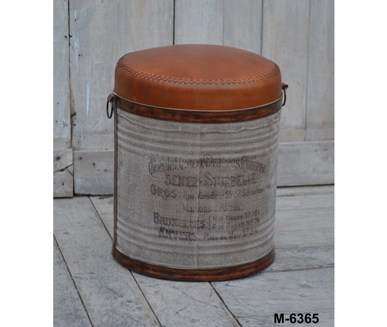 Pouf in metallo Industrial