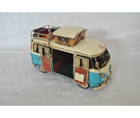 Modellino in latta camp Bus