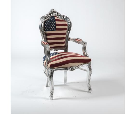 Poltrona Barocco Silver USA