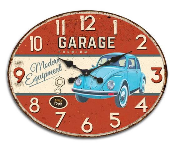 Orologio ovale da parete Auto d'Epoca
