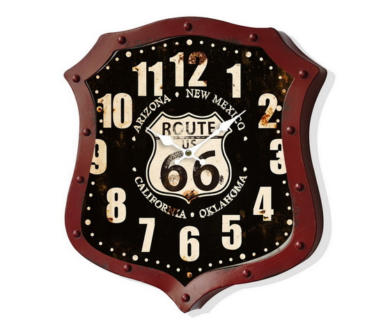 Orologio da parete Route 66 Nero e Rosso