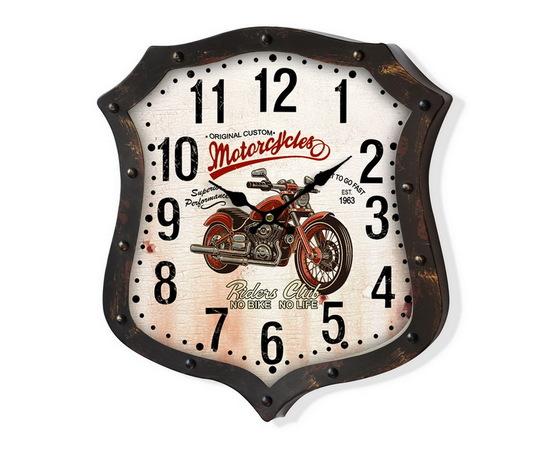 Orologio da parete metallo Moto Marrone