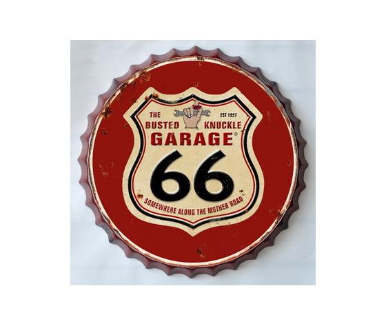 Targa metallo Tappo birra Garage Route 66