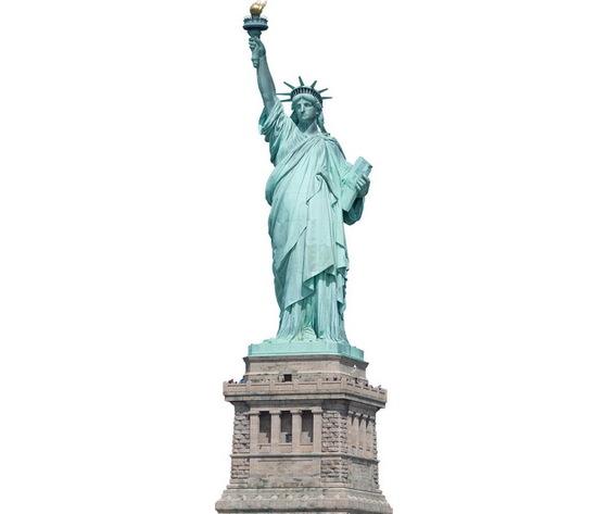 Targa pannello metallo Statua della Libertà