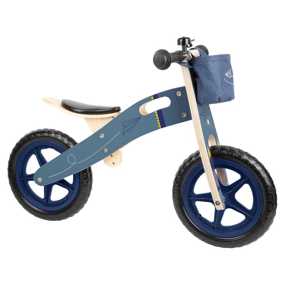 Bicicletta Blu Aereo di carta