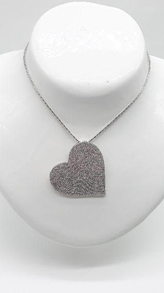Ciondolo Donna cuore in argento e zirconi, vendita online | GIOIELLERIA BRUNI Imperia