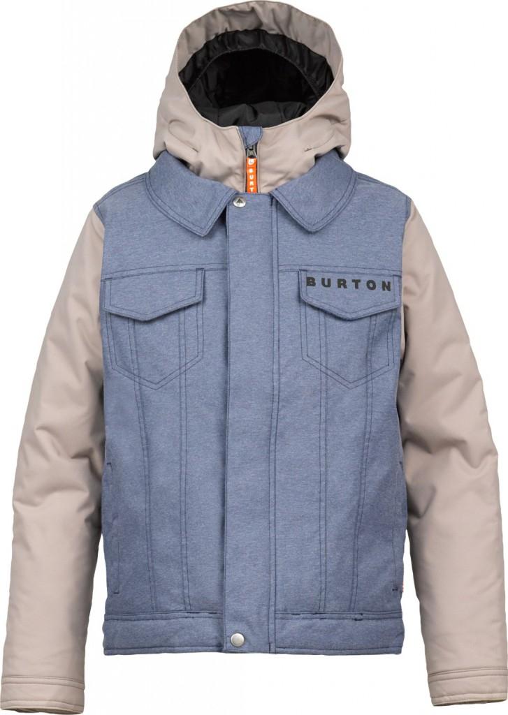 Giacca Snowboard Burton Kids Denim Jacket Wash Stone