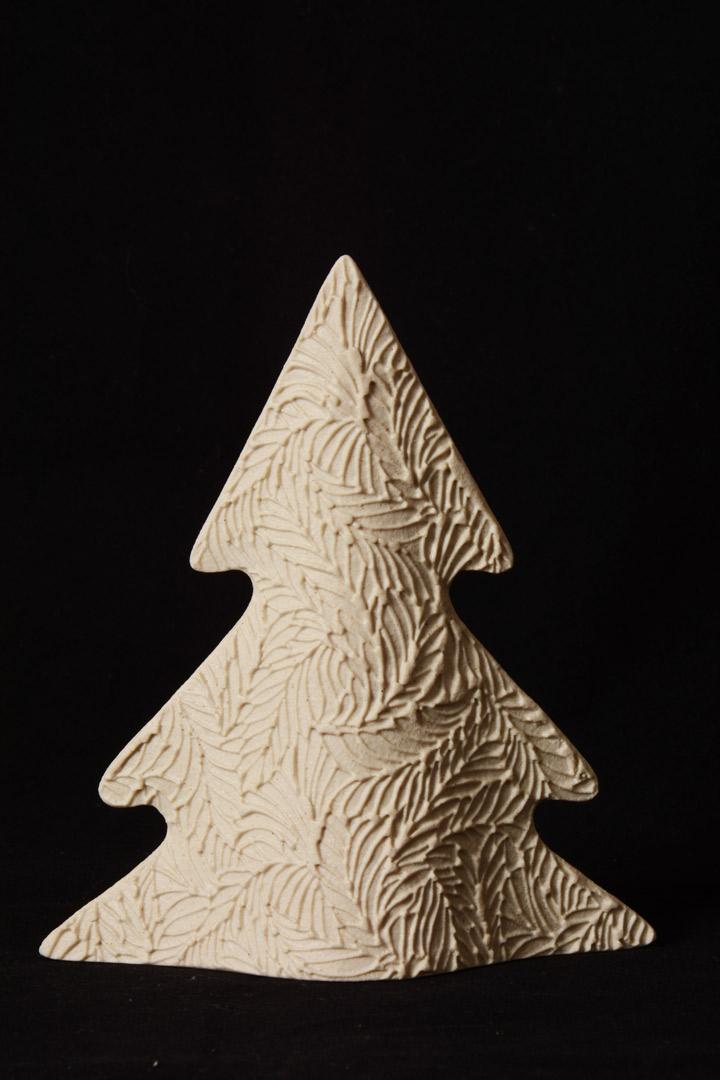 Albero di Natale Moderno Avorio in Gres Porcellanato cm 15,5