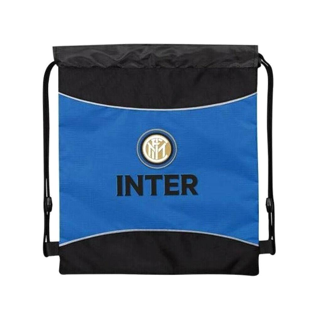 INTER sacca nero/azzurra con coulisse multiuso