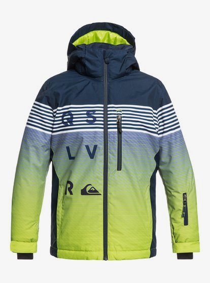 Giacca Snowboard QuikSilver KIDS Mission Blue Green