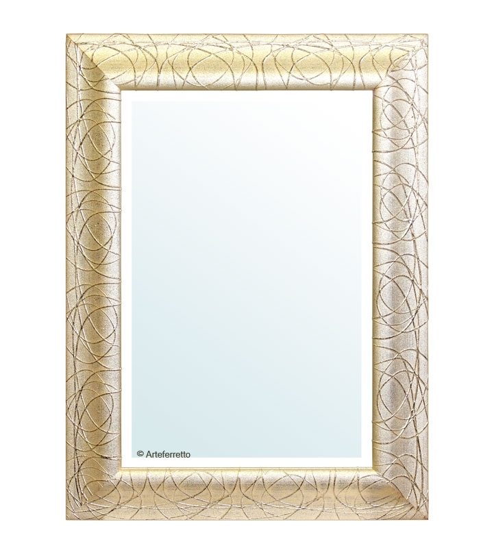 Espejo pan de oro envejecido