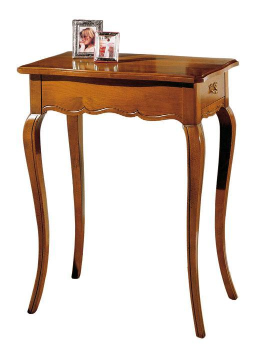 Pequeña mesa de apoyo estilo Luis XV con cajón