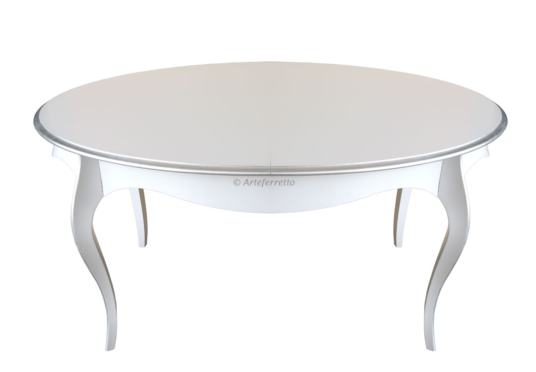 Mesa ovalada patas curvas extensible 160-200 cm