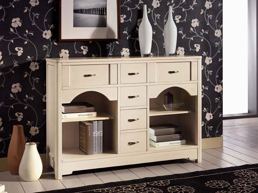 Mueble aparador de almacenaje 6 cajones y compartimentos