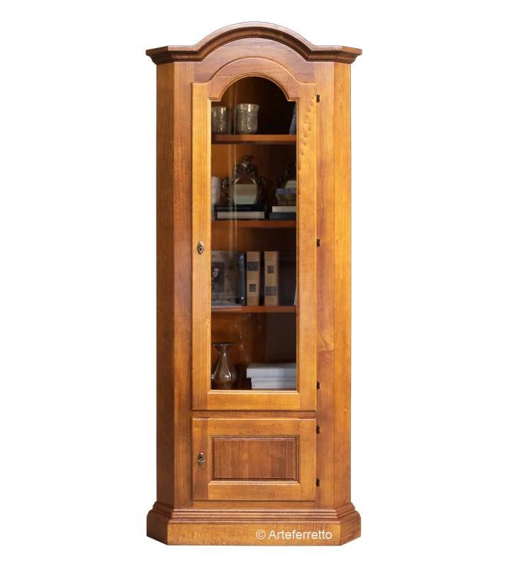 Mueble de esquina con vitrina