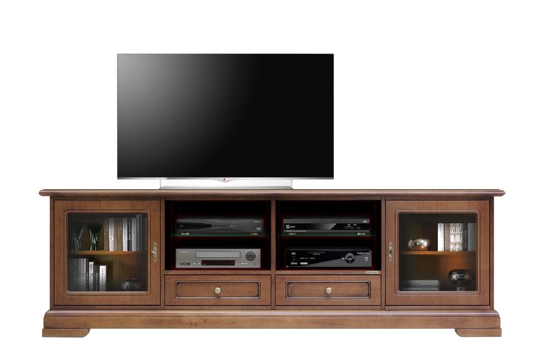 Mueble tv 2m en madera de artesanado italiano