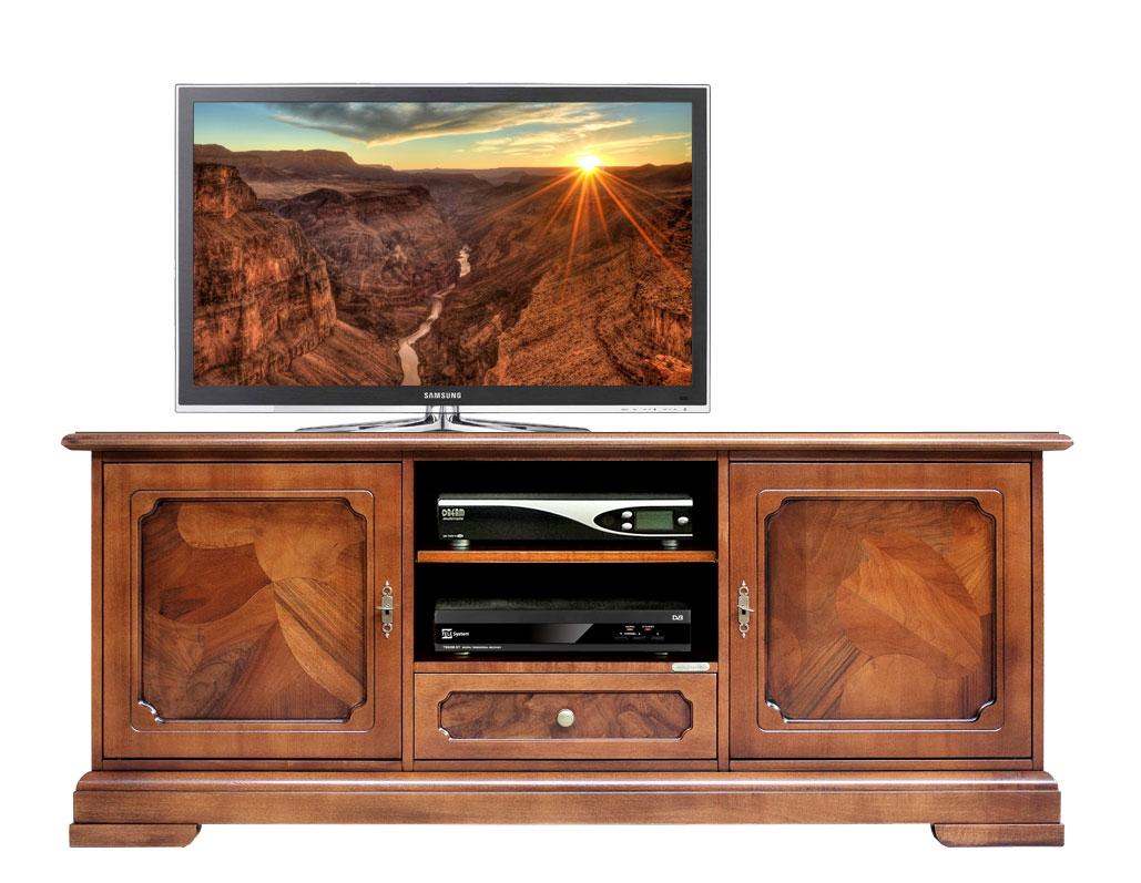 Mueble tv con raíz en puertas cajones