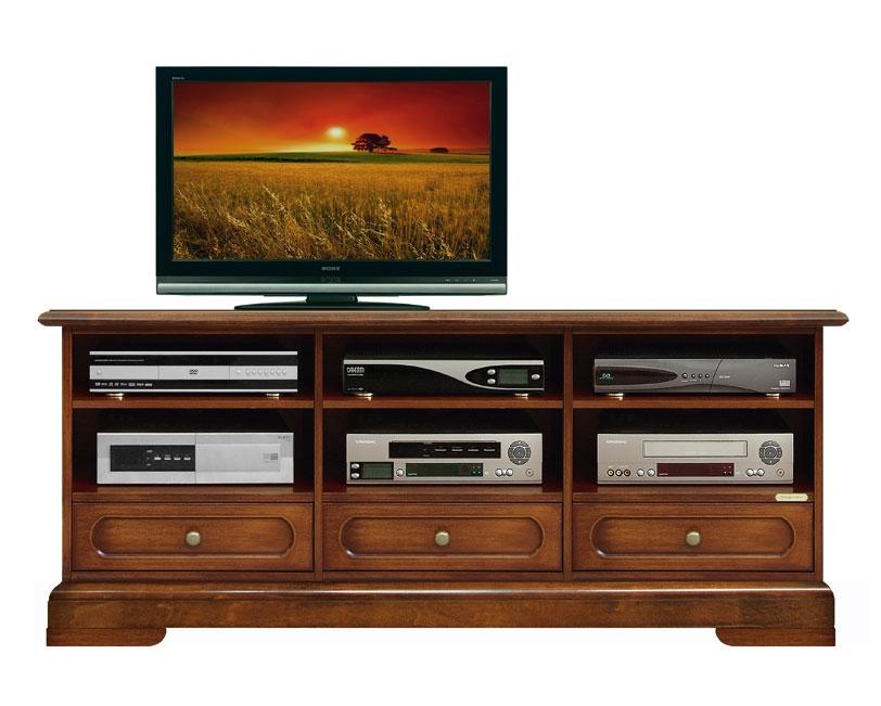 Mueble tv 3 vanos 3 cajones en madera