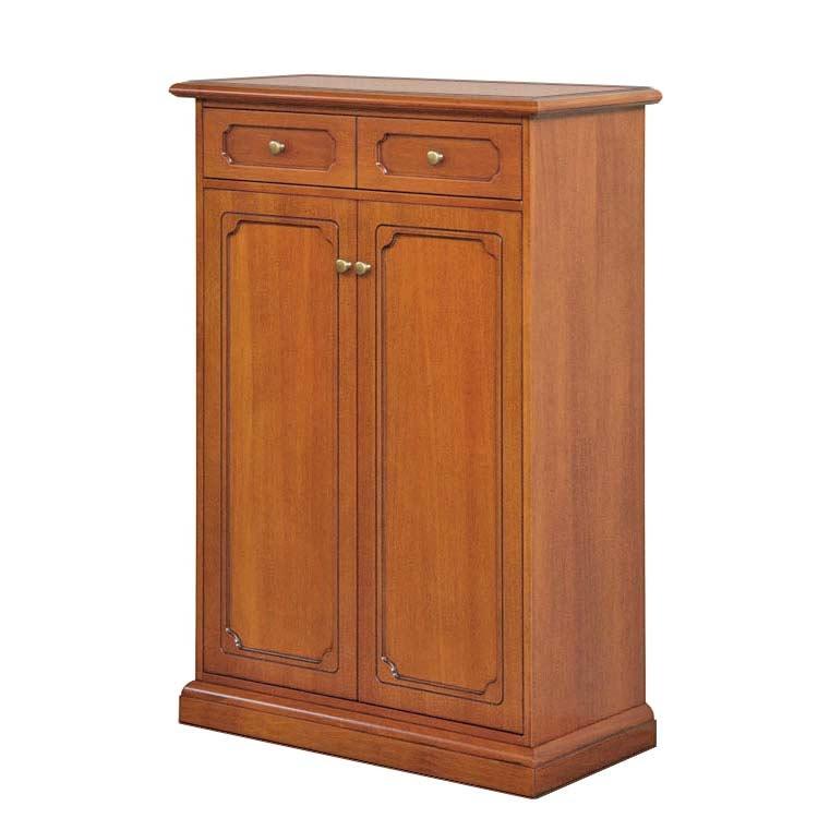 Zapatero de madera 2 puertas y cajón